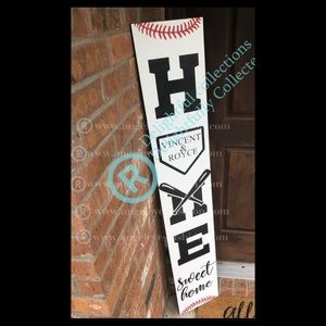 Custom made to order baseball front porch signs
